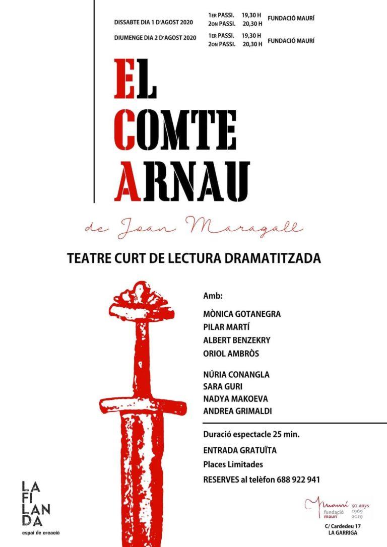 Teatre de petit format a la Fundació Maurí, aquest cap de setmana
