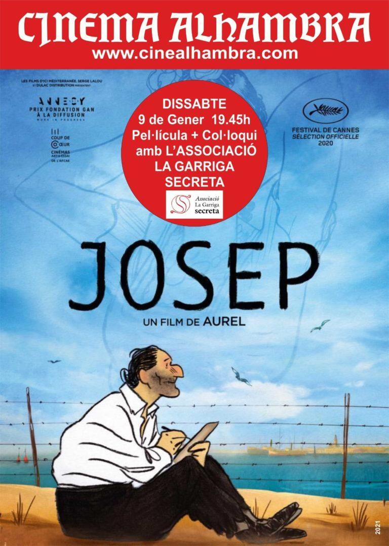 L'historiador Joan Garriga presenta a l'Alhambra la pel·lícula Josep, sobre la 'Retirada' i l'exili