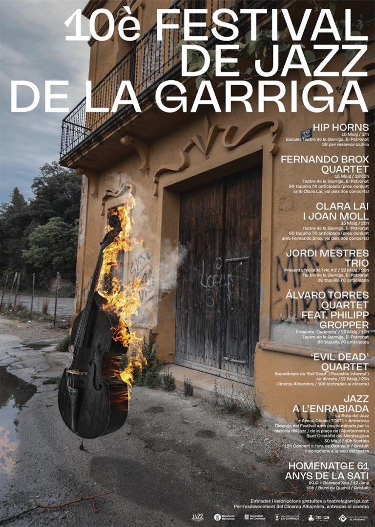 El festival de Jazz de la Garriga arriba a la seva desena edició!