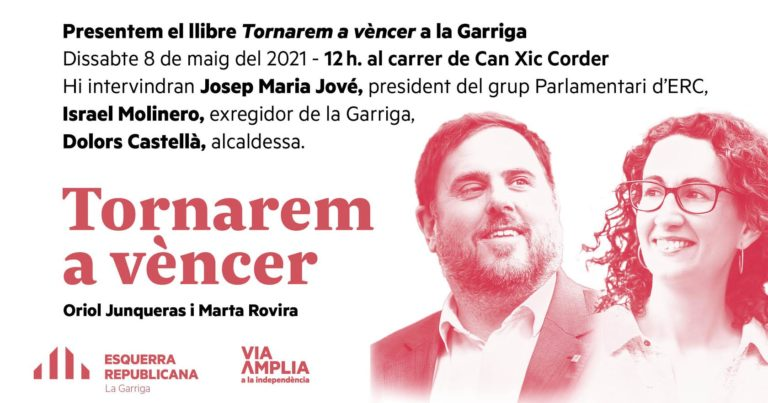 Es presenta el llibre Tornarem a Vèncer d'Oriol Junqueras i Marta Rovira