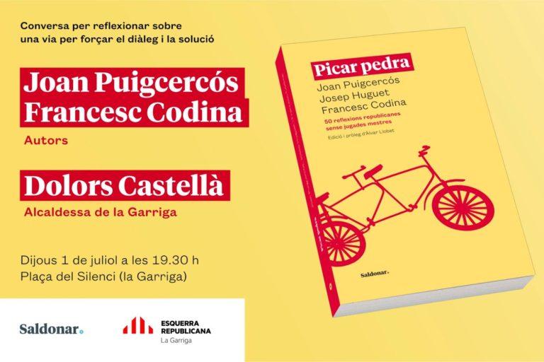 Joan Puigcercós i Francesc Codina presenten 'Picar pedra' a la Garriga